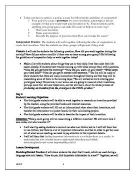 Social Studies Lesson Plan/Invention Lesson Plan