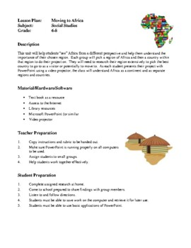 Social Studies Lesson Plans - Discovering the Middle East, Moving to Africa