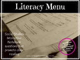 Social Studies Literacy Menu