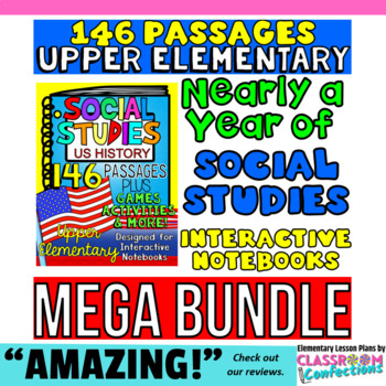 4th & 5th Grade Social Studies: American History [146 passages PLUS] US History