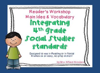 4th grade Social Studies & Reading Integration Task Cards