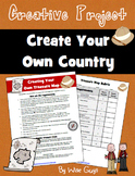Social Studies Map Skills Activity: Design own country