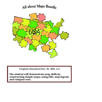 Social Studies: Map Skills Bundle Packet