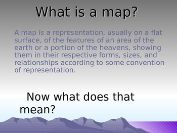 Social Studies - Map Skills Lesson and PowerPoint
