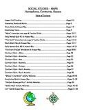 Social Studies - Maps, Continents, & Oceans - Complete Les