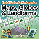 Social Studies: Maps, Globes and Landforms (works with dis