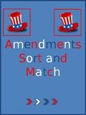 Georgia Social Studies Match and Sort Amendments Test Prep