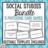 Social Studies Card Game BUNDLE