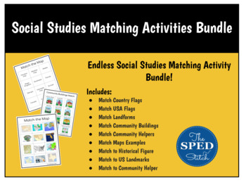 Social Studies Matching Pages