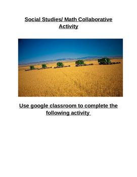 Social Studies Math Collaborative Activity (Farming, Economics, Charts)