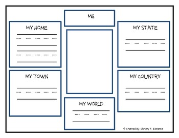 Social studies me on the map graphic organizers by still smiling in social studies me on the map graphic organizers gumiabroncs Image collections