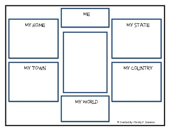 Social Studies-Me On the Map-Graphic Organizers