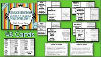 Social Studies Memory - 5th Grade GMAP Review (Set 1 of 4)