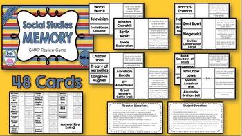 Social Studies Memory - 5th Grade GMAP Review (Set 2 of 4)