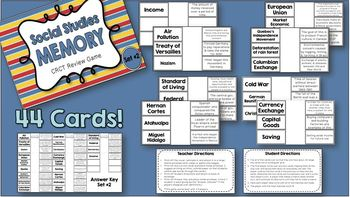 Social Studies Memory - 6th Grade CRCT Review (Set 2 of 3)