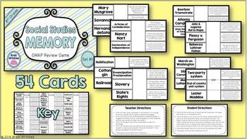 Social Studies Memory - 8th Grade GMAP Review (Set 5 of 5)