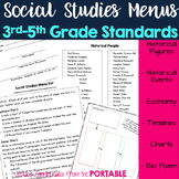 Social Studies Menu - Assessing 3rd-5th Grade Social Studi