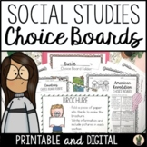 Social Studies Differentiated Choice Boards and Menus for