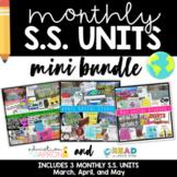 Social Studies Mini Bundle: March, April, May
