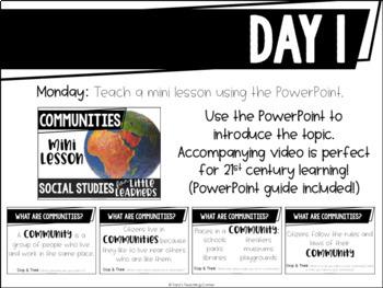 Social Studies Mini Lesson: What is a community?