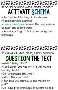 Social Studies Mini Poster Bundle