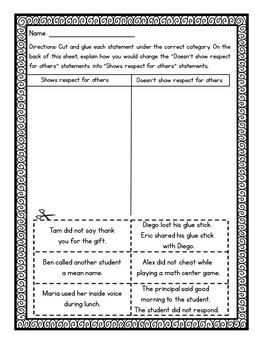 """Social Studies Mission: Interactive """"Respect for Others"""""""