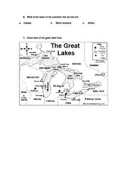 Social Studies Modified Assessment for Grade 5 U.S.Geography/Landforms