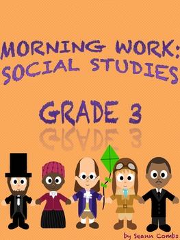 Social Studies Morning Work - Pack I