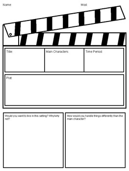 Social Studies Movie Guide -- ANY MOVIE, Enduring Issues Connection!