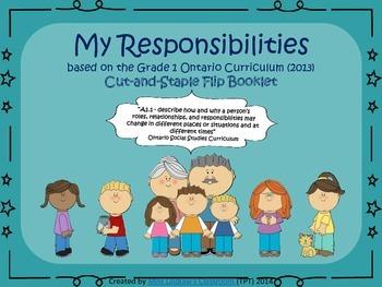 Social Studies: My Responsibilities - Heritage and Identity {Ontario Curriculum}