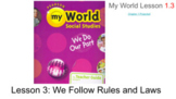 Social Studies My World Grade 2 Chapter 1 Lesson 3 We Follow Rules and Laws