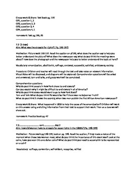Social Studies NY STATE, 4th grade, chapter #7 lesson plans