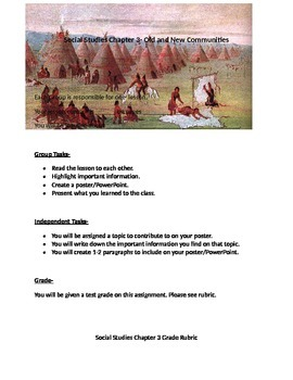 Social Studies- Native American Tribe- Project
