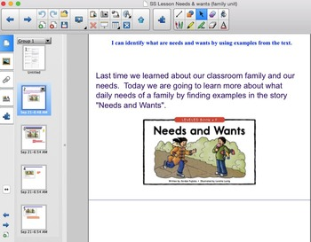 Social Studies Needs and Wants presentation & lesson plan