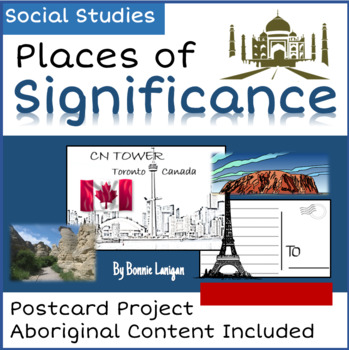 Places of Significance: Postcard Writing Grade 2 New BC Curriculum