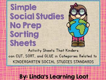 Social Studies No Prep Sorting Sheets
