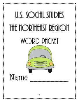 Social Studies - Northeast Vocabulary Packet