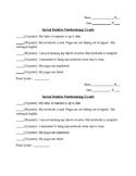 Social Studies Note Booking Rubric