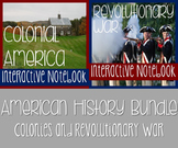 Interactive History Notebook Bundle: Colonies & Revolution w/ Reading Passages