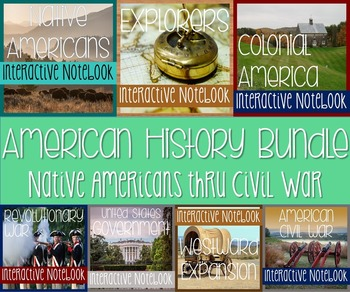 Interactive Notebooks Bundle -Social Studies Full Year Curriculum! 4th-6th Grade