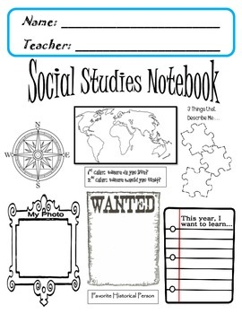Interactive Science Notebook Cover ... 6 Different Designs ... |Human Studies Science Notebook Cover