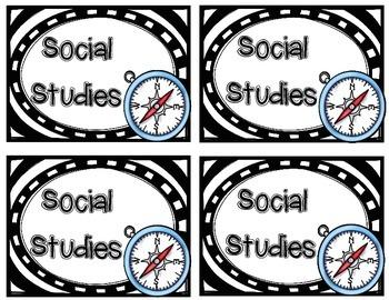 Social Studies Notebook Labels