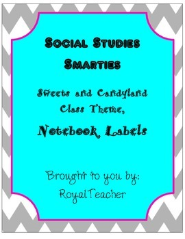 Social Studies Notebook Labels Sweets Theme