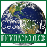 Interactive Notebook - Geography Unit - Social Studies  -