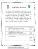 Social Studies Notebooking Rubric