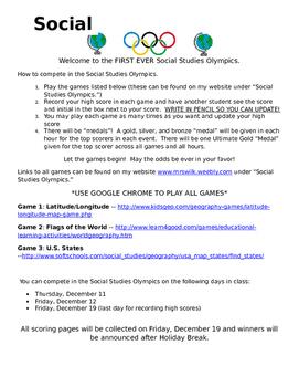 Social Studies Olympics
