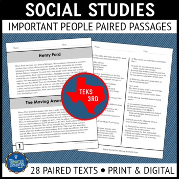 Social Studies Paired Texts Reading Passages