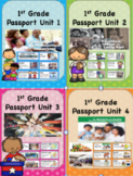 Social Studies Passport 1st Grade Units 1-4 Vocabulary with Definitions
