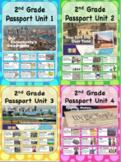 Social Studies Passport 2nd Grade Units 1-4 Vocabulary Words with Definitions