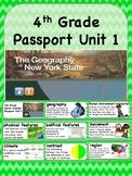 Social Studies Passport 4th Grade Unit 1 Vocabulary Words: Geography of New York